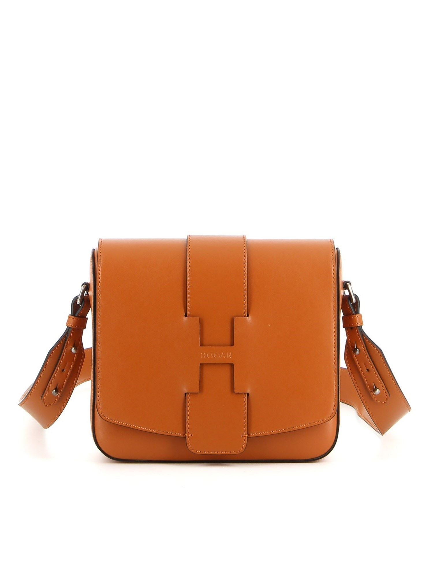 Hogan Leathers SMOOTH LEATHER CROSSBODY BAG IN BROWN
