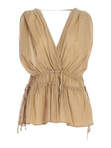 Ottod'Ame - Drawstring top in beige