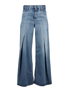 MM6 Maison Margiela - Flared jeans with darts in blue