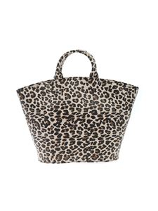Gum Gianni Chiarini - Animal print shopper in black and beige