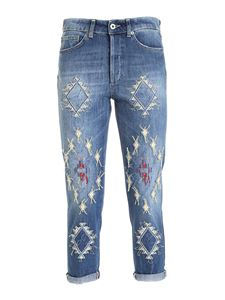 Dondup - Faded embroidered Zoe jeans in blue