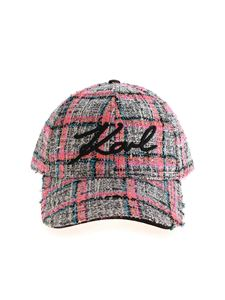 Karl Lagerfeld - Signature Tweed multicolor cap