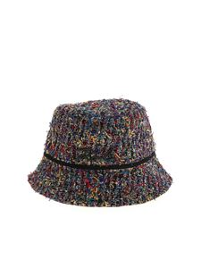 Karl Lagerfeld - Signature Bouclè multicolor hat