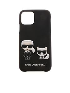 Karl Lagerfeld - Karl and Choupette iPhone 11Pro cover in black