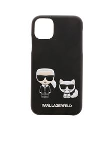 Karl Lagerfeld - Cover iPhone 11 Karl e Choupette nera