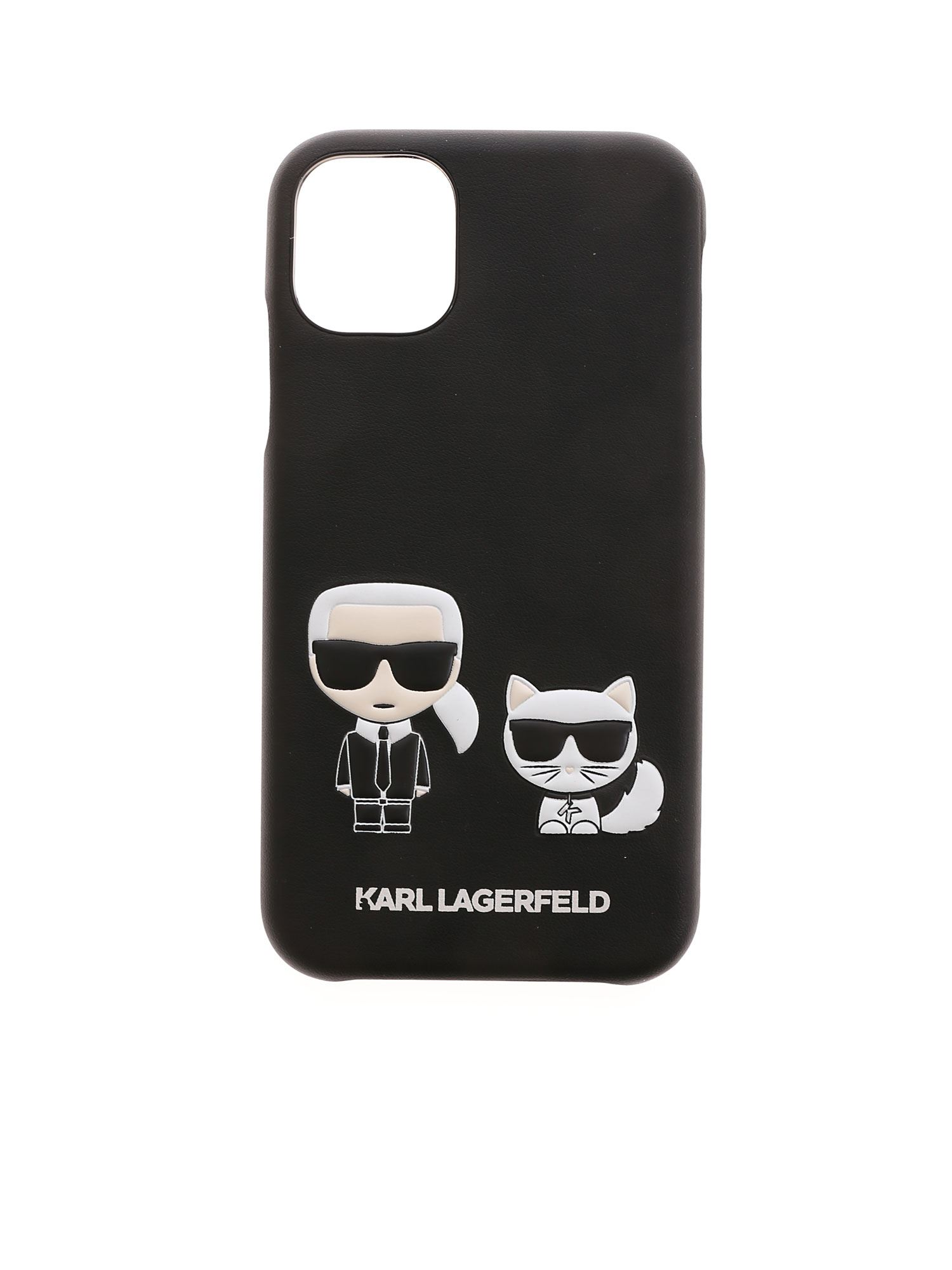Karl Lagerfeld KARL AND CHOUPETTE IPHONE 11 COVER IN BLACK
