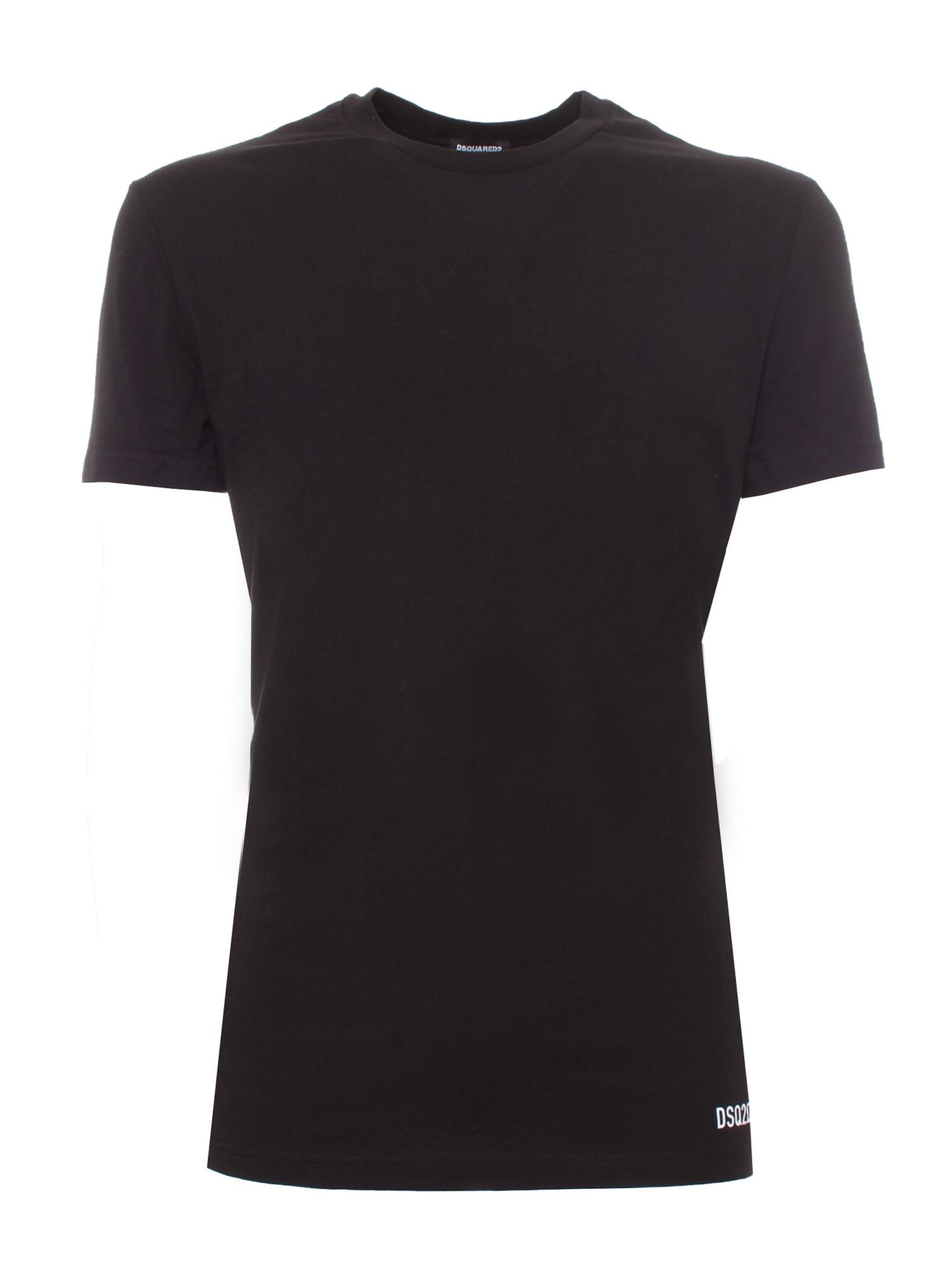 Dsquared2 Cottons DSQ2QSD T-SHIRT IN BLACK