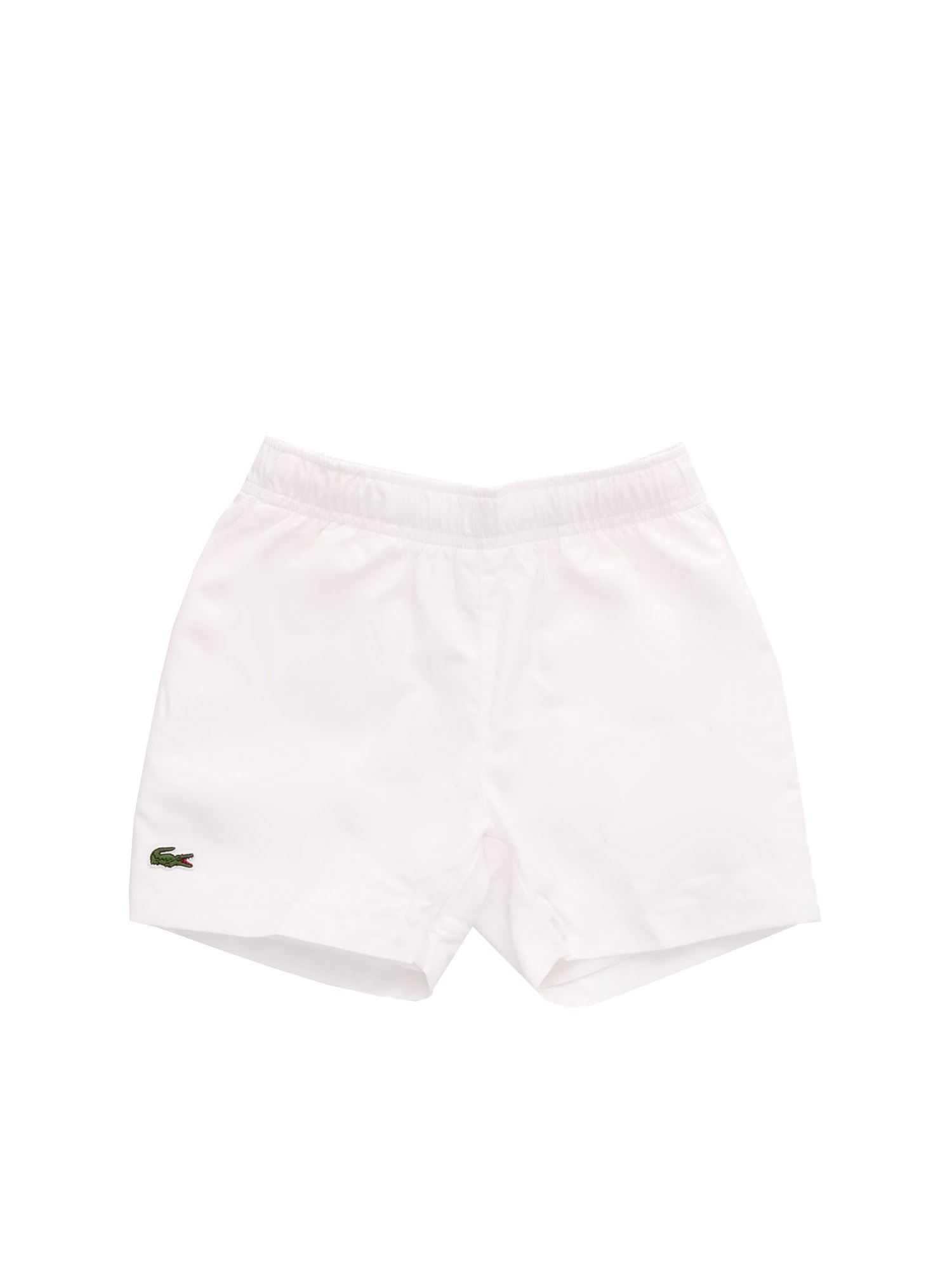 Lacoste Clothing LOGO PATCH BERMUDA IN WHITE