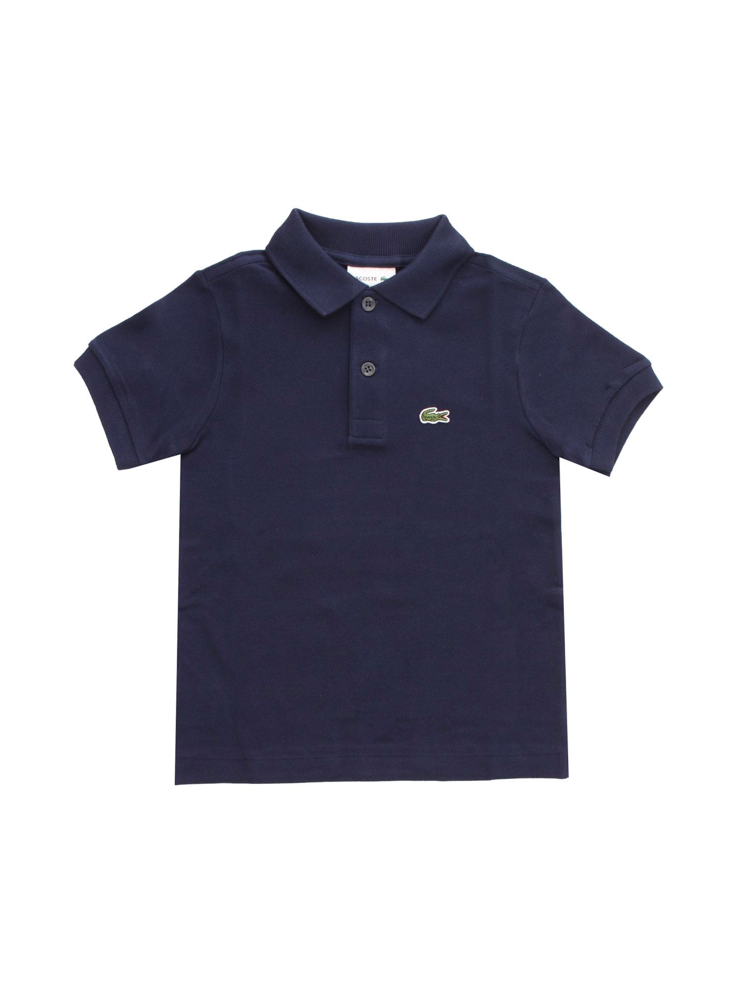 Lacoste LOGO PATCH POLO SHIRT IN BLUE