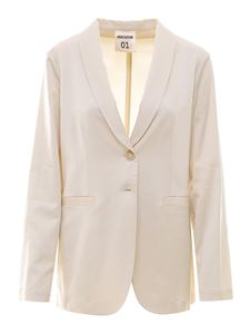 Semicouture - Viscose blend blazer in cream color