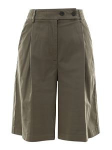 Semicouture - Cotton blend bermuda shorts in green