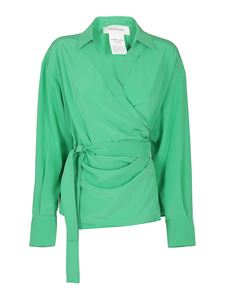 Sportmax - Silk wrapped blouse in green