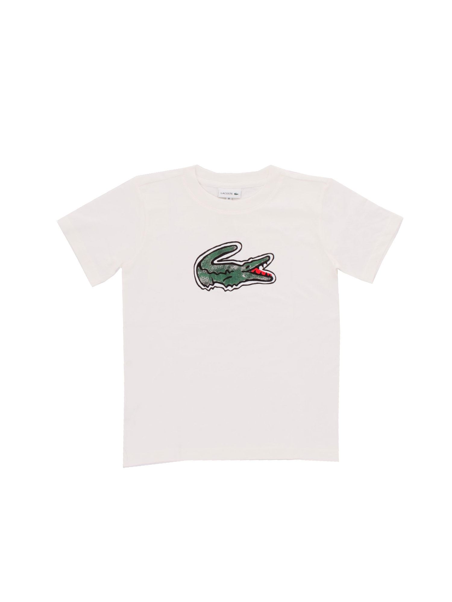 Lacoste MAXI LOGO T-SHIRT IN WHITE