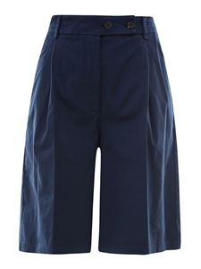 Semicouture - Cotton blend bermuda shorts in blue
