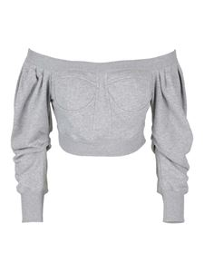 Philosophy di Lorenzo Serafini - Boatneck jersey sweatshirt in grey