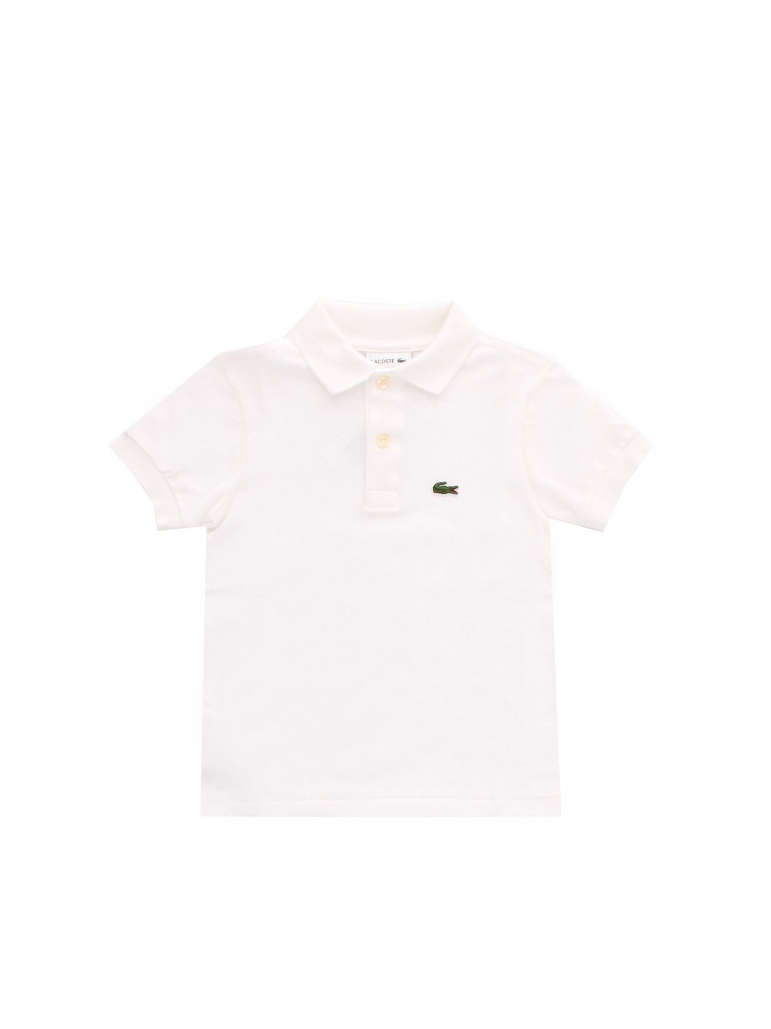 Lacoste LOGO PATCH POLO IN WHITE