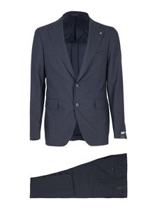 Tagliatore - Virgin wool suit in blue