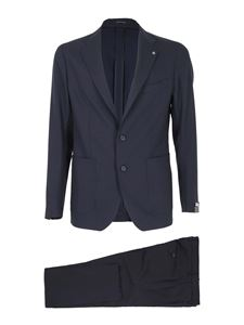 Tagliatore - Virgin wool single-breasted suit in blue