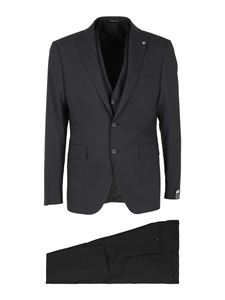 Tagliatore - Virgin wool suit in grey