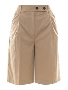 Semicouture - Cotton blend bermuda shorts in beige