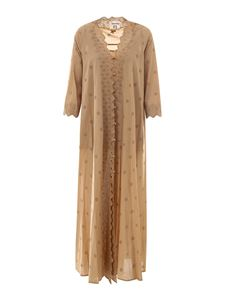 Semicouture - Broderie anglaise shirt dress in beige