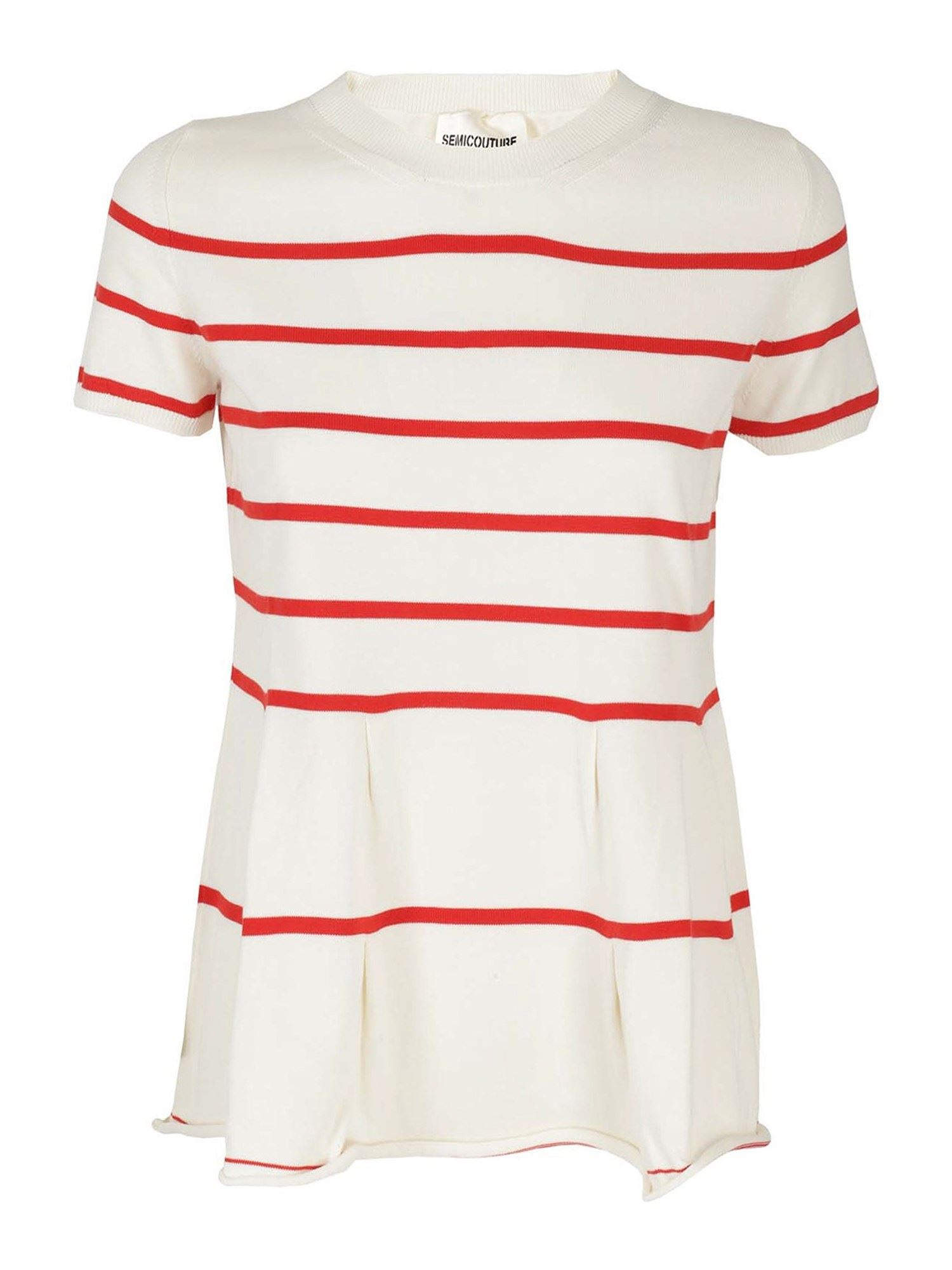 Semicouture T-shirts ALICE T-SHIRT IN WHITE