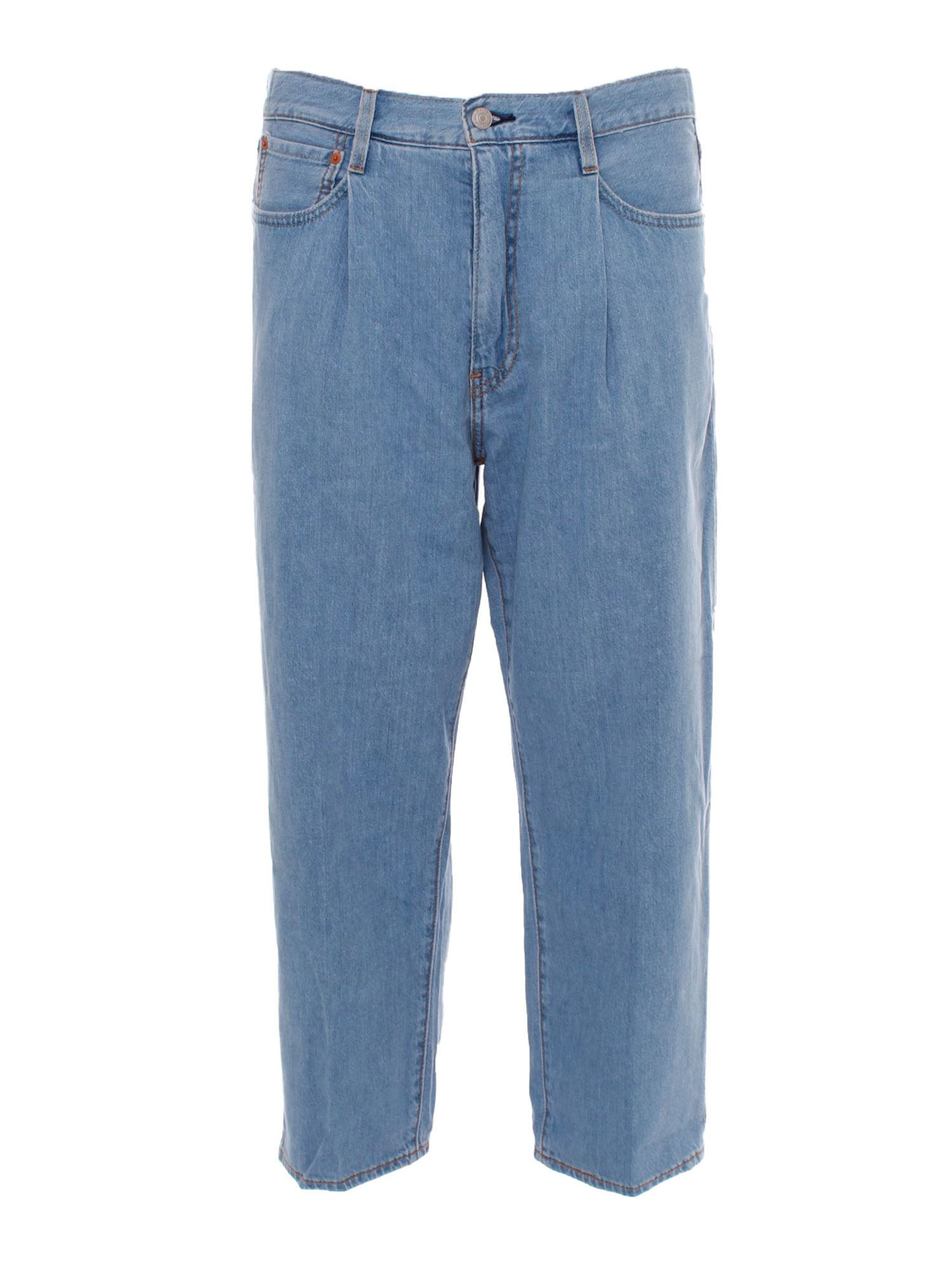 Levi's Cottons LEVI'S STAY LOOSE CROPPED JEANS IN BLUE