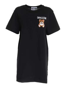 Moschino - Inside Out Teddy Bear T-shirt dress in black