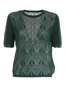 Ballantyne - Drilled knitted pullover in green