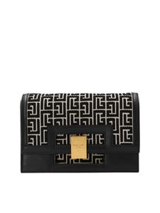 Balmain - 1945 small clutch bag in black
