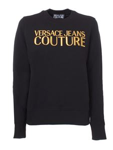 Versace Jeans Couture - Logo embroidery crewneck sweatshirt in black