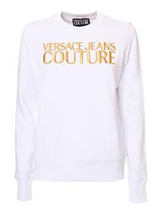 Versace Jeans Couture - Logo embroidery sweatshirt in white