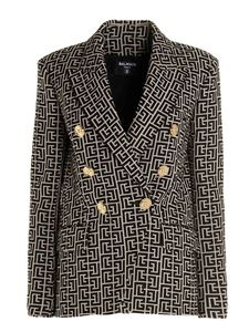 Balmain - Jacquard jacket in black and natural