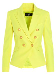 Balmain - Double-breasted blazer in yellow