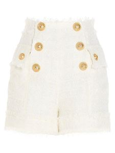 Balmain - Buttons shorts in white