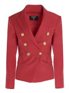 Balmain - Double-breasted blazer in fuchsia