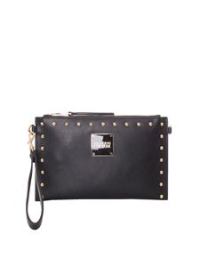 Versace Jeans Couture - Studded clutch bag in black