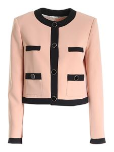 Blumarine - Jewel buttons jacket in pink and black