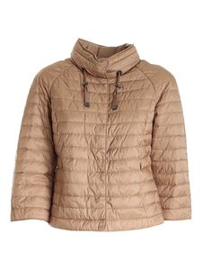 Diego M - Quilted padded jacket in camel color