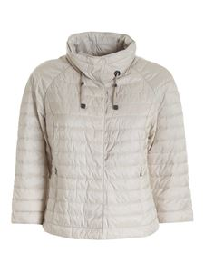Diego M - Quilted padded jacket in beige