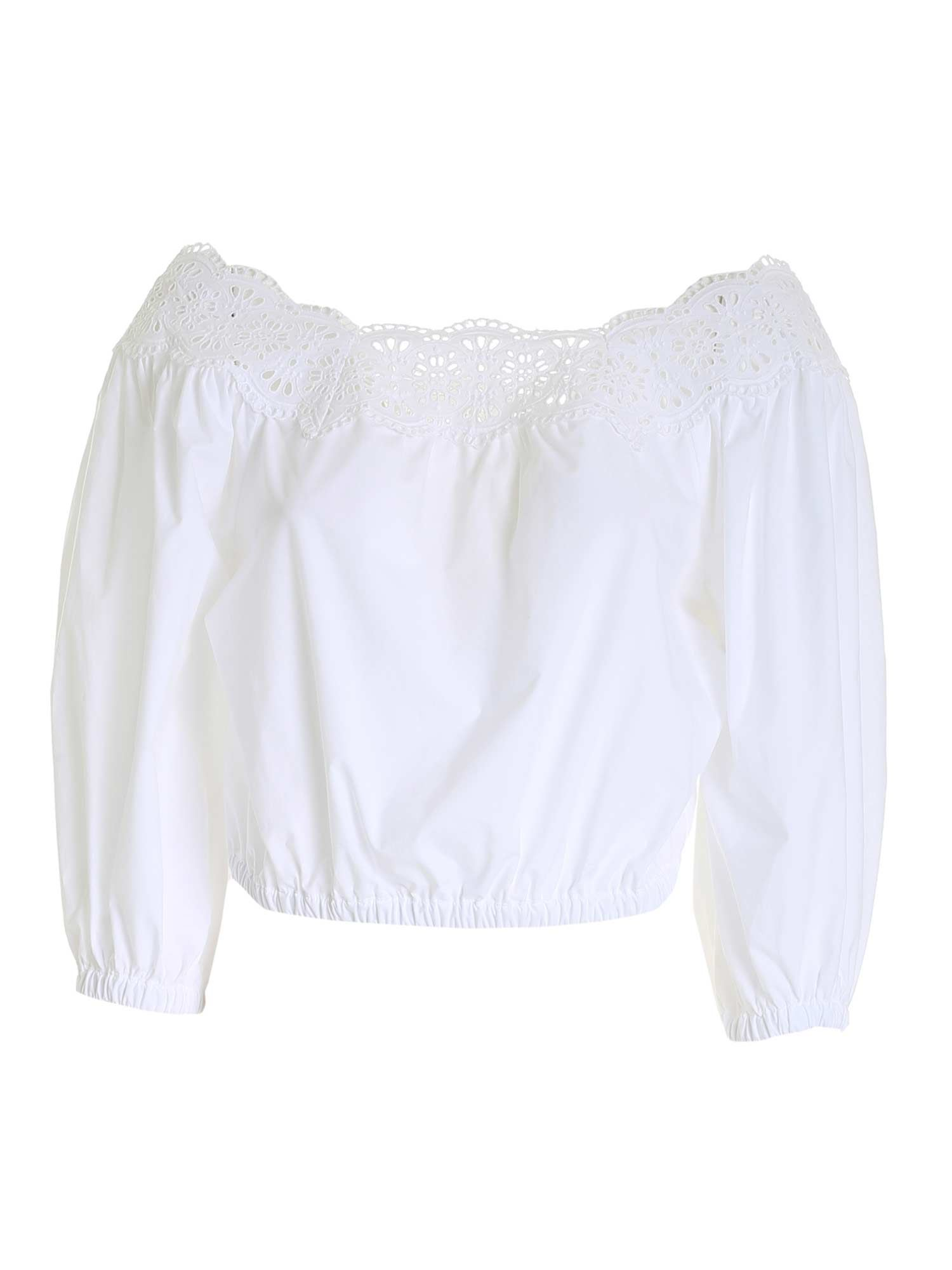 P.a.r.o.s.h. Cottons SANGALLO BLOUSE IN WHITE