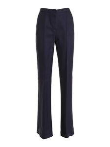 Les Copains - Viscose and cupro pants in blue