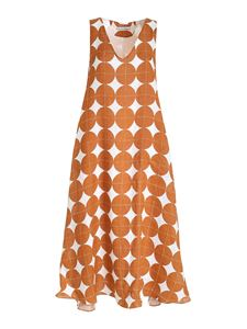 Le sarte pettegole - Oversize dress in brown and white