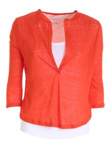 Majestic Filatures - Long-sleeved double T-shirt in orange