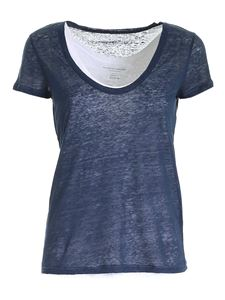 Majestic Filatures - Double T-shirt in blue