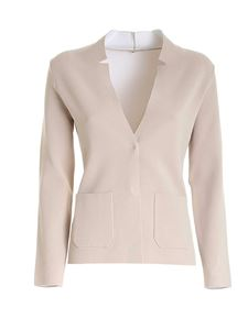 Kangra Cashmere - Notch lapels cardigan in beige