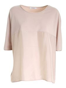 Kangra Cashmere - Boxy T-shirt in nude color