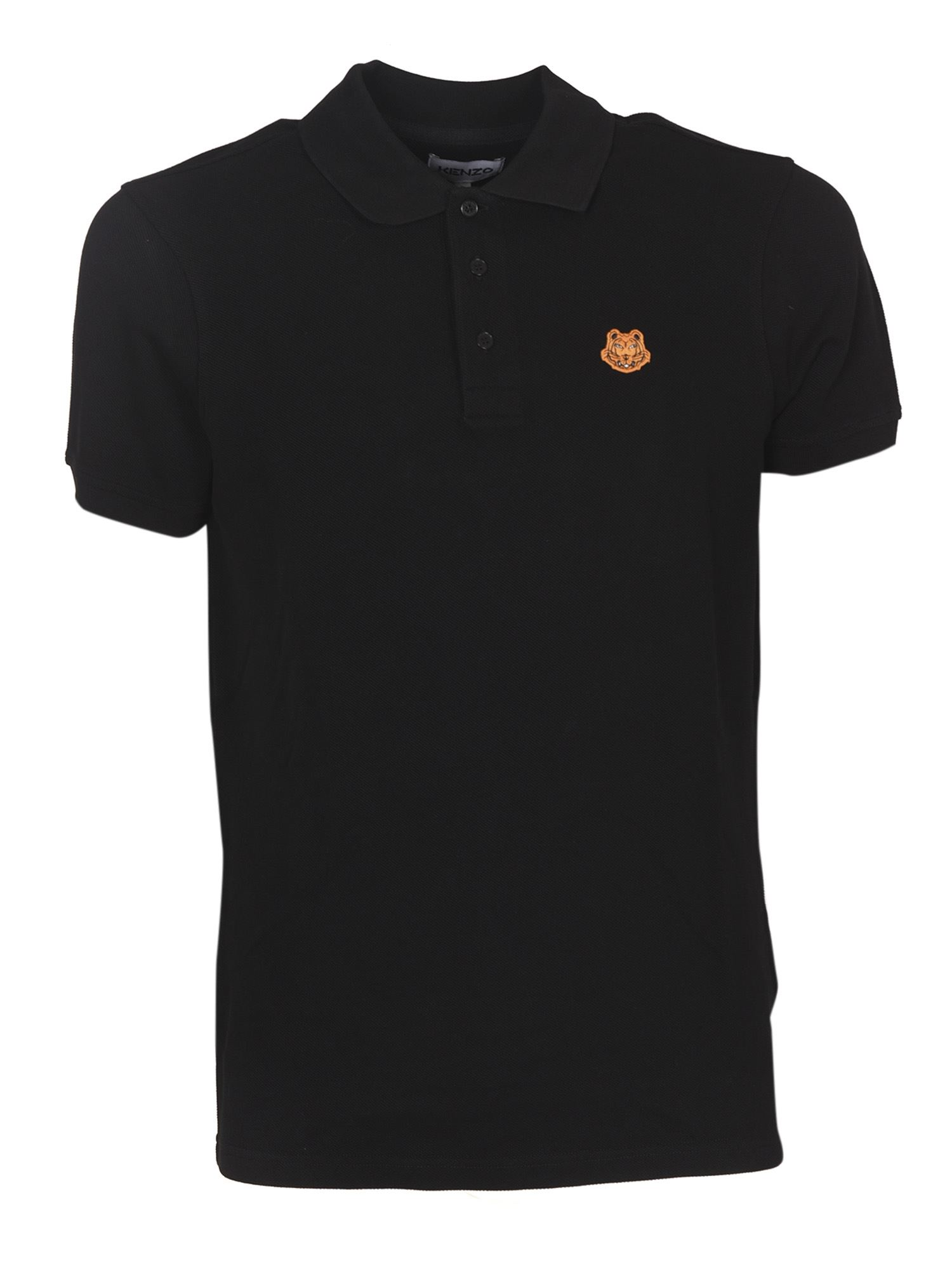 Kenzo Cottons TIGER CREST POLO IN BLACK