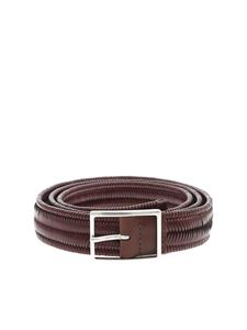 Orciani - Braided leather belt in brown