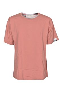 Golden Goose - Floral printed Aira T-shirt in Salmon pink